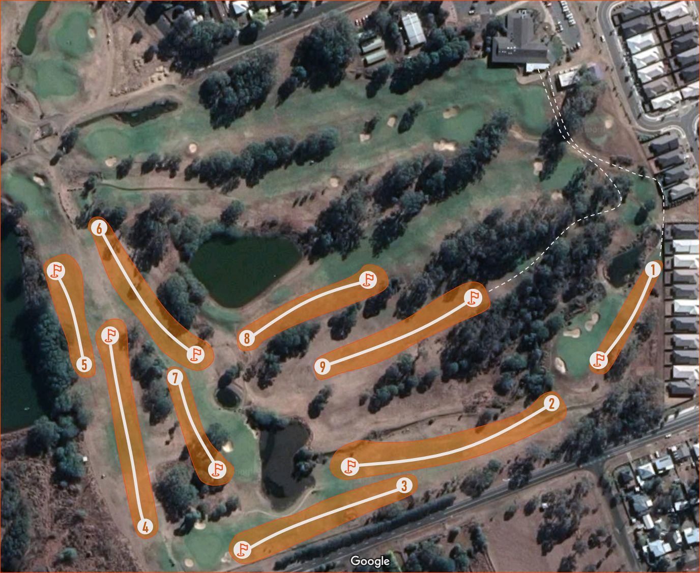 Ipswich FootGolf Course Layout - Social